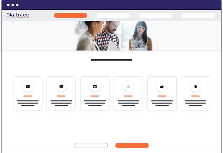 plateforme Digitaleo marque grise
